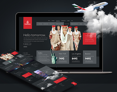 Emirates Airlines Website Concept / Four Zero Studio