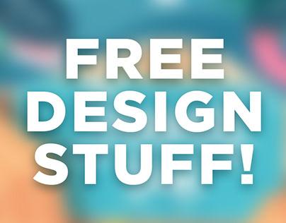 Free Design Stuff! Fonts, Mockups, Illustrations etc