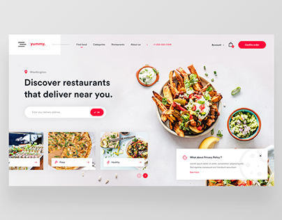 Yummy — Food Delivery Website Concept 🍕