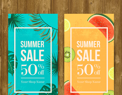 Summer Sale Banners - Vector Free for Freepik