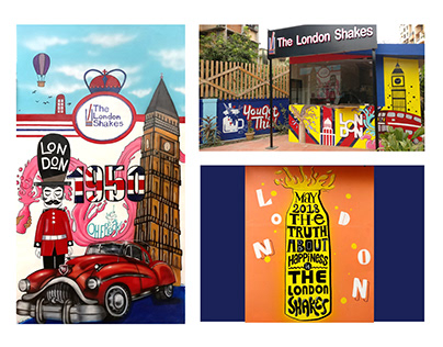 Wall Painting Commercial Project 1 - The London Shakes