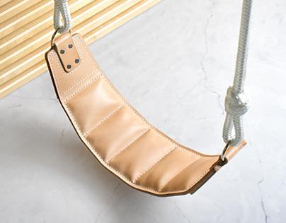 Indoor Leather Children's Swing