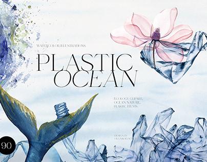 Plastic Ocean Watercolor collection