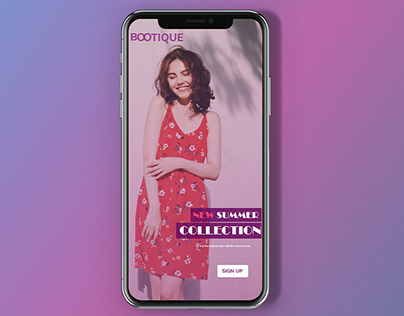 Mobile app design for clothing store