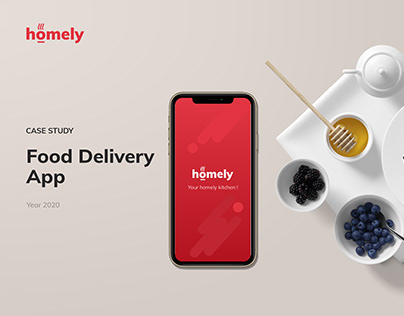 Homely - Food Delivery Mobile App | UI/UX Case Study