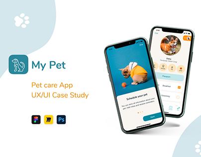 My Pet - mobile app, UI/UX case study
