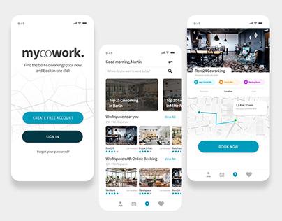 mycowork - App/UI design