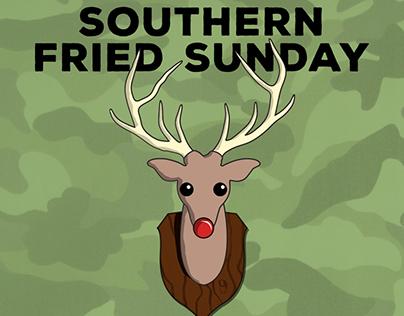 Southern Fried Sunday Holiday Flyer, 2015