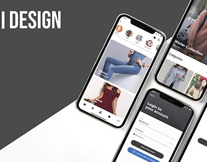 Fashion app ui design