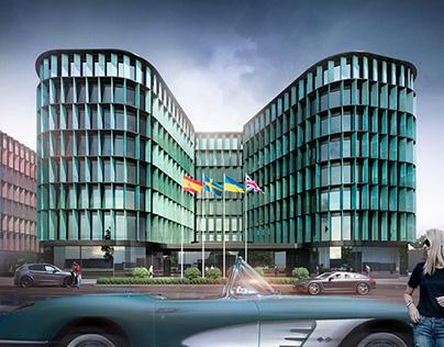 Hotel and office complex. Ukraine, Lviv