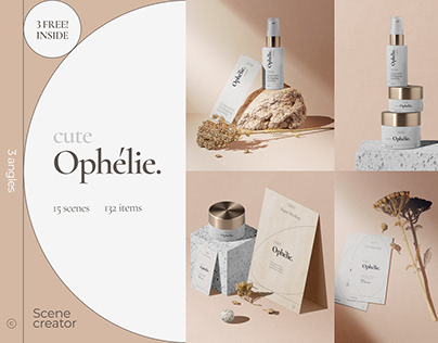 Cute Ophélie – Mockup Scene Creator