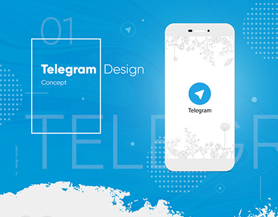 Telegram Design Concept. Messenger app design