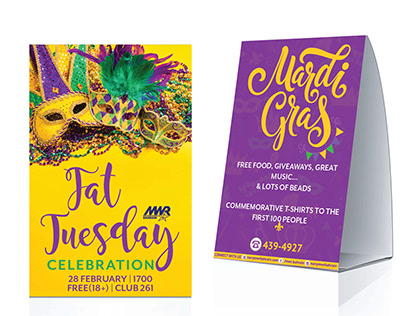 Mardi Gras : Fat Tuesday Celebration Poster