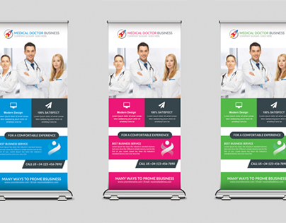 Medical Rollup Banners Templates