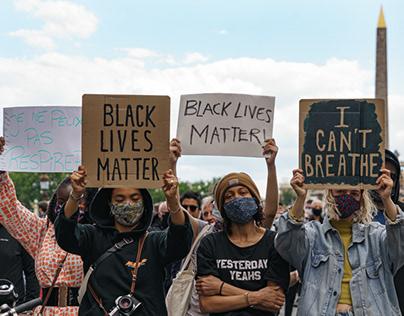 Black Lives Matter 06.06.2020 Paris, France