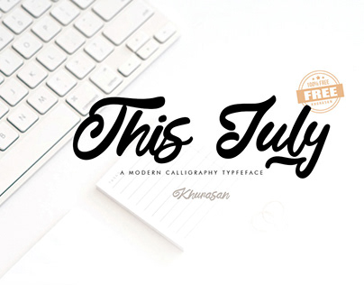 Free This July Calligraphy Font
