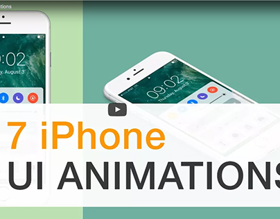 iPhone UI/UX- 7 After Effects Animations