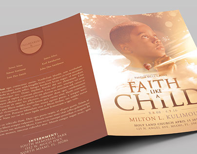 Child Funeral Program Booklet Template