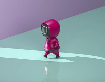Squid Game Minimalist Render