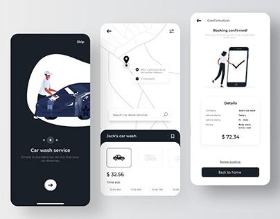 Trending Car Wash App UI Design
