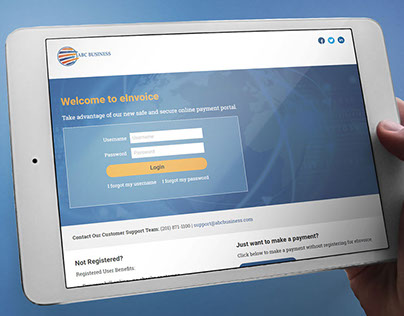 eInvoice Website Redesign