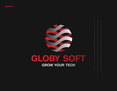 Software Agency, Globy Soft, Tech logo