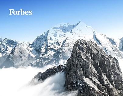Промо сайт для Forbes и France.fr