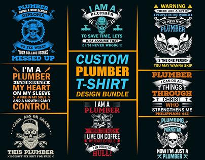 Custom Plumber T-Shirts Bunddle