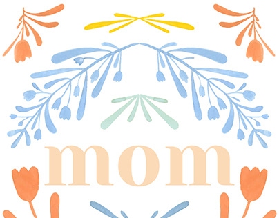 Mothers Day Card Mockup