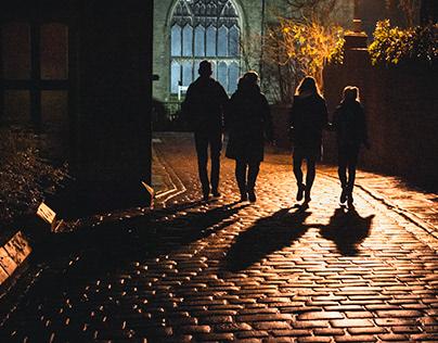 Haworth at night