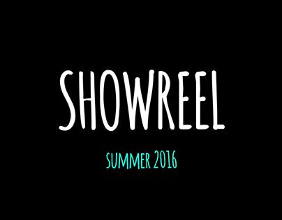 SHOWREEL summer 2016