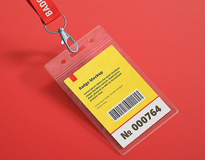 Freebie Name Tag / Badge Mock-up PSD