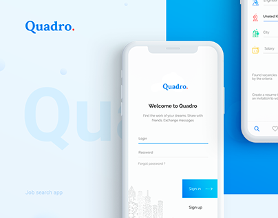 Quadro. App for search job