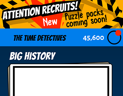 GUI for The Time Detectives game