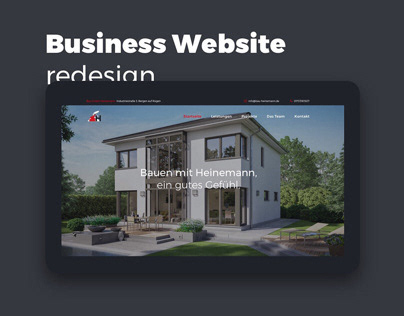 Onepage business website redesign