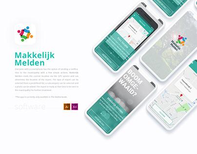 UX/UI Design | Makkelijk Melden mobile app