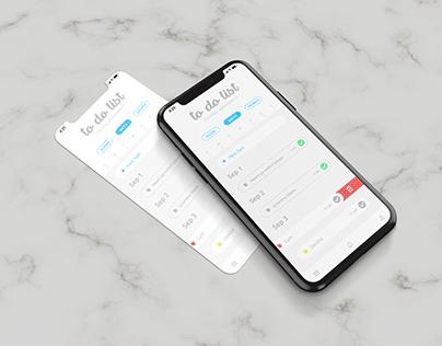 To Do List App UI Design