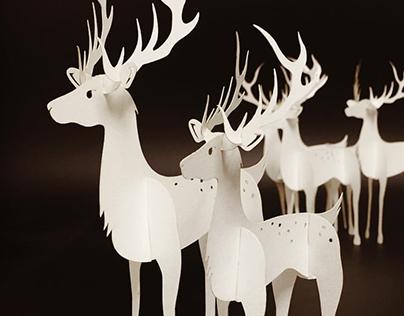 Company Christmas Card - Pop Out DIY Reindeer