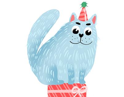 Cats illustration. Procreate art