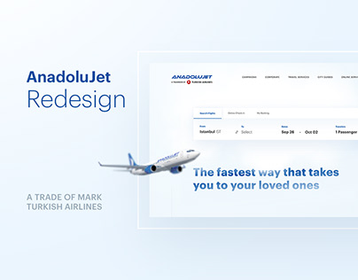 AnadoluJet Airlines — Redesign Concept