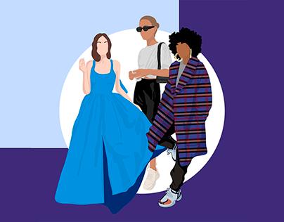 Free Cutout People Illustration - Fashion Pack 2