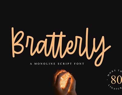 Bratterly - A Monoline Script
