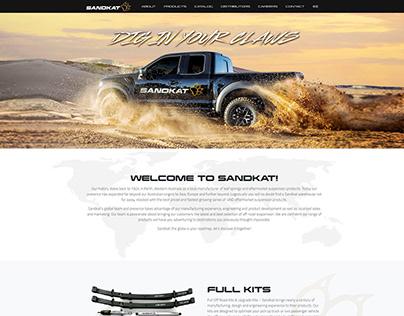 Webdesign & development for auto parts brand