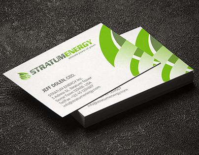 Business Card STRATUM ENERGY