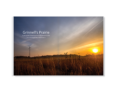 Grinnell's Prairie – photo essay design