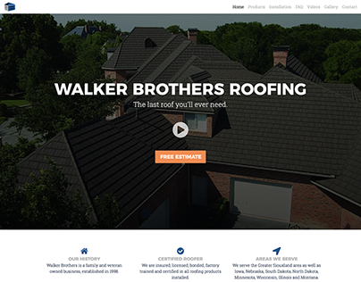 Walker Brothers Roofing Website