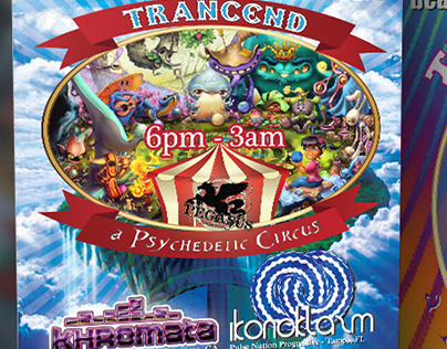 Trancend Psychedelic Circus Event Flyer