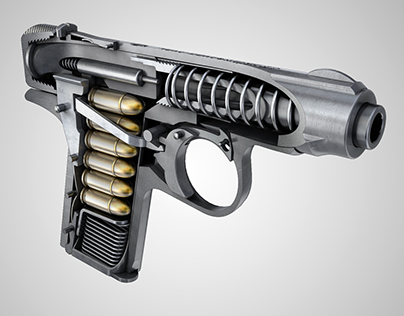 J.P. Sauer & Sohn Handgun - CGI