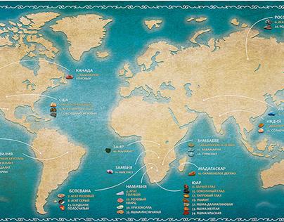 Карта мира для игры-квеста
