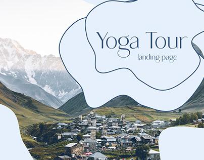 Yoga Tour - Landing page